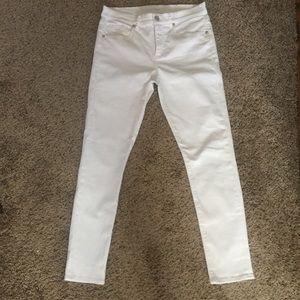 The LOFT Modern Skinny White Pants Size 6